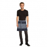 Chef Works Urban Manhattan Half Bistro Apron Indigo