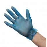 Vogue Powdered Vinyl Gloves L