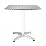 Bolero Square Stainless Steel Bistro Table 700mm (Single)