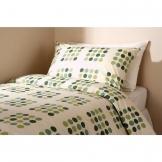 Essentials Memphis Housewife Pillowcase Green (144 TC, 50/50 Polycotton)