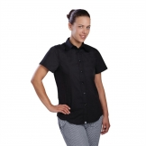 Chef Works Womens Cool Vent Chefs Shirt Black M