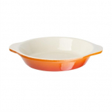 Vogue Orange Round Cast Iron Gratin Dish 400ml