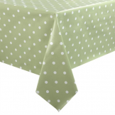 PVC Green Polka Dot Table Cloth 55 x 90in
