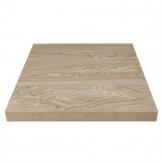 Bolero Pre-drilled Square Table Top Antique Natural 600mm