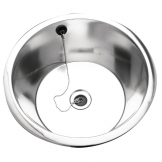 Franke Sissons Stainless Steel Rimmed Edge Round Inset Sink Bowl 355mm