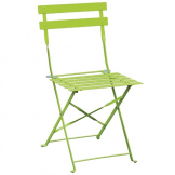 Bolero Green Pavement Style Steel Folding Chairs (Pack of 2)