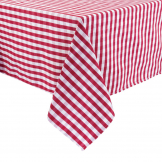 Mitre Comfort Gingham Tablecloth Red 1780 x 1780mm