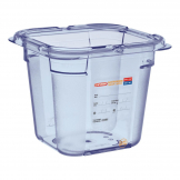 Aravan ABS Food Storage Container Blue GN 1/6 150mm