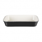 Vogue Black Cast Iron Roasting Dish
