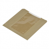 Vegware Compostable Small Kraft Sandwich Bags With PLA Window