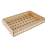 Olympia 350(W)mm x 230(D)mm Low Sided Wooden Crate