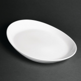 Royal Porcelain Classic White Oval Plates 340mm (Pack of 12)