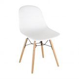 Bolero PP Moulded Side Chair White with Spindle Legs (Pack 2)