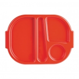 Kristallon Large Polycarbonate Compartment Food Trays Red 375mm