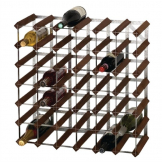 Wine Rack Dark Wood 42 Bottle