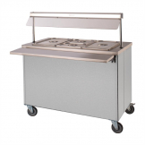 Moffat Mobile Hot Cupboard with Dry Heat Bain Marie 3FBM