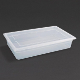 Vogue Polypropylene 1/1 Gastronorm Container with Lid 100mm (Pack of 2)