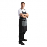 Chef Works Urban Bronx Bib Apron with Scoop Neck Indigo