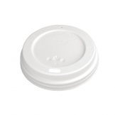 White Lid For Fiesta 340ml / 12oz and 455ml / 16oz Disposable Coffee Cups x 1000 (Pack of 1000)