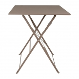 Bolero Coffee Pavement Style Steel Table 600mm Square