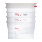 Araven Polypropylene 1/1 Gastronorm Food Storage Box 28Ltr