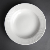 Olympia Linear Pasta Plates 230mm (Pack of 12)