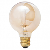Crystalite G80 Squirrel Cage Filament Antique Lamp ES 60W