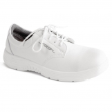 Abeba X-Light Microfiber Lace Up Safety Shoe White 46