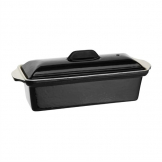 Vogue Black Cast Iron Pate Terrine Mould 1.3Ltr