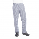 Whites Womens Chef Trousers Blue and White Check 32in