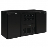 Polar U-Series Double Door Back Bar Counter and Wine Fridge