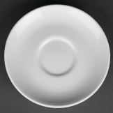 Royal Porcelain Classic White Cappuccino Saucers 150mm (Pack of 12)
