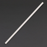Fiesta Green Compostable Paper Straws White (Pack of 250)