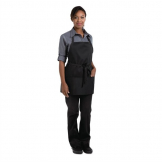 Chef Works Three Pocket Bib Apron Black