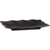 APS Marone Melamine Wavy Tray Black 275x 110mm