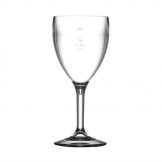 BBP Polycarbonate Wine Glasses 310ml CE Marked at 175ml and 250ml (Pack of 12)