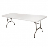 Bolero Centre Folding Table 8ft White