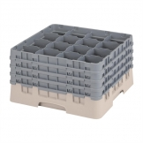 Cambro Camrack Beige 16 Compartments Max Glass Height 238mm