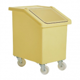 Fletcher Mobile Ingredient Bin 90Ltr Yellow