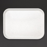 Kristallon Fibreglass Canteen Tray Light Granite 405mm