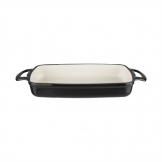Vogue Black Rectangular Cast Iron Dish 2.8Ltr
