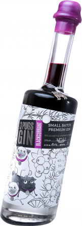 3 Pugs - Blackcurrant Gin (50cl Bottle)