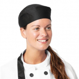 Nisbets Essentials Chef Skull Caps Black (Pack of 2)