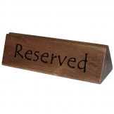 Olympia Acacia Menu Holder and Reserved Sign (Pack of 10)