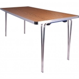 Gopak Contour Folding Table Teak 5ft