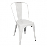 Bolero Bistro Steel Side Chair White (Pack of 4)