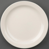 Olympia Ivory Narrow Rimmed Plates 200mm (Pack of 12)
