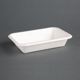 Fiesta Green Compostable Bagasse Food Trays 180mm (Pack of 50)