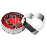 Vogue Heart Pastry Cutter Set (Pack of 6)
