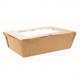 Huhtamaki Recyclable Paperboard Takeaway Boxes With Window Large 1500ml / 52oz (Pack of 180)